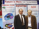 Managing director of Rotatek Josep Soler (left) and Dr Mikhail ...